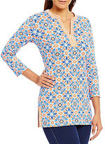 J.Mclaughlin Boca Knit 3/4 Sleeve Tunic