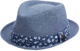 Nick Graham Men's Luis Solid Floral Fedora