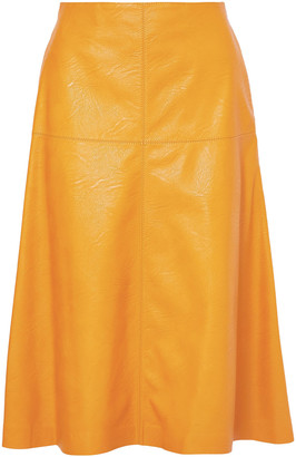 Stella McCartney Faux Leather Midi Skirt