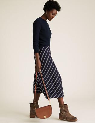 Marks and Spencer Jersey Striped Skater Skirt
