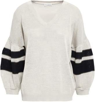 Brunello Cucinelli Bead-embellished Cotton Sweater