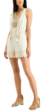 INC International Concepts Inc Embellished Romper, Created for Macy's