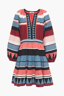 Ulla Johnson Gathered Striped Cotton-poplin Mini Dress