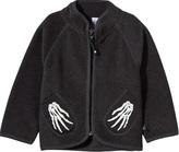 Molo Umo Fleece Jacket In Dark Grey Melange