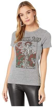 Chaser Grateful Dead Skeleton Rose Tri-Blend Short Sleeve Basic Slim Tee