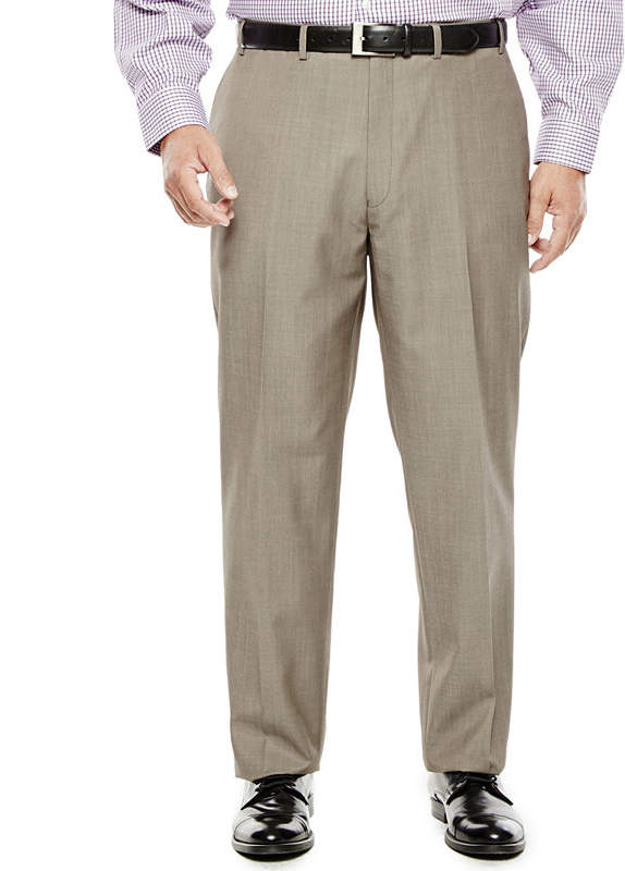 ad9c8157 COLLECTION Collection by Michael Strahan Taupe Flat-Front Suit Pants - Big  & Tall