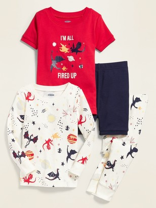 Old Navy Dragon-Graphic 4-Piece Pajama Set for Toddler Boys & Baby