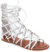 Bernardo White Willow Lace-Up Gladiator Sandals