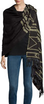 MIXIT Mixit Aztec Blanket Wrap with Fringe