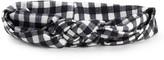 Monochrome Plaid Knot Headband