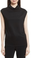 Theory Women's Draped Cowl Neck Stretch Jersey Top
