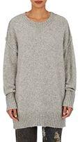 R 13 Women's Oversized Crewneck Sweater-LIGHT GREY