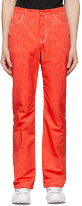 Marine Serre Red High-Waisted Trousers