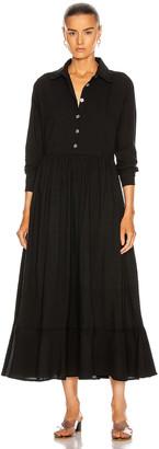 Natalie Martin Heath Dress in Flat Cotton Black   FWRD