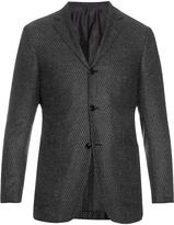Ermenegildo Zegna Single-breasted wool and silk-blend blazer