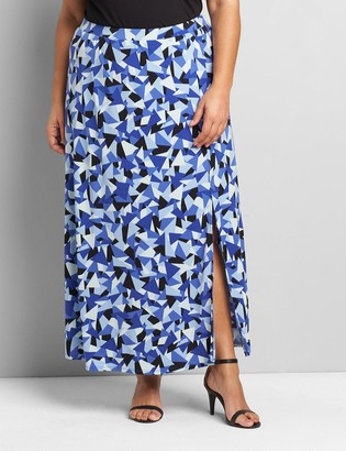 Lane Bryant Pull-On Matte Jersey Maxi Skirt With Slit