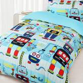 Happy Kids Robot Workshop Glow in the Dark Quilt Cover Set