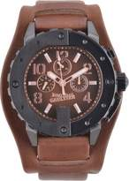 Jean Paul Gaultier Watch 8500203 – Men – Brown Leather Strap Brown Dial
