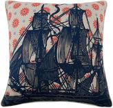 Thomas Paul Ship 22x22 Pillow, Navy