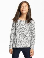 Old Navy Patterned Hi-Lo Swing Top for Girls
