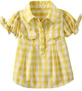 Old Navy Plaid Tie-Sleeve Tops for Baby