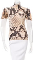 Roberto Cavalli Short Sleeve Turtleneck Top