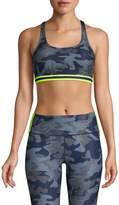 Wear It To Heart Camo Cross-Back Sports Bra