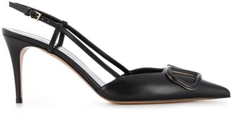 Valentino VLOGO 80mm slingback pumps