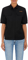Tomas Maier Women's Flower-Embroidered Toile Shirt
