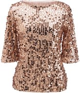 jeansian Women's Summer Fashion Sparkling Sequined T-Shirt Tops WHS202 XXL