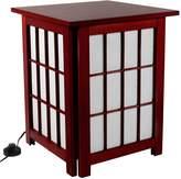 Oriental Furniture Hokkaido Table Lamp - Rosewood