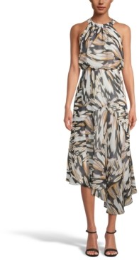 INC International Concepts Inc Printed Asymmetrical-Hem Dress, Created for Macy's