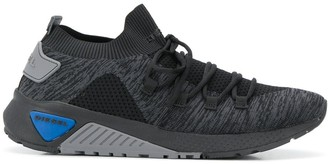 Diesel Lace-up sock sneakers with knit upper
