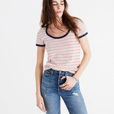 Madewell Recycled Cotton Ringer Tee in Sacramento Stripe