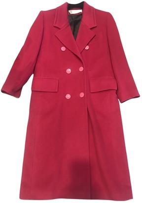 Pierre Balmain \N Red Wool Coat for Women Vintage