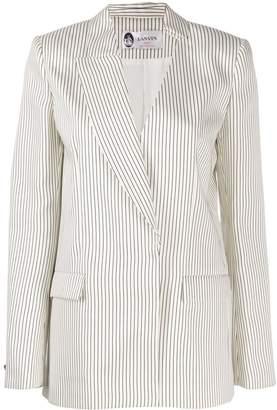 Lanvin asymmetric striped blazer