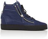 Giuseppe Zanotti Men's Double-Zip High-Top Sneakers-NAVY