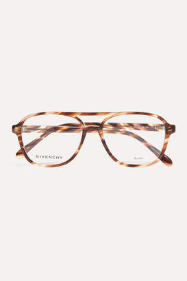 Givenchy Aviator-style Tortoiseshell Acetate Optical Glasses