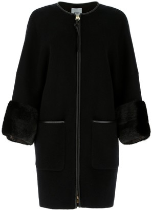 Agnona Fur Trim Coat