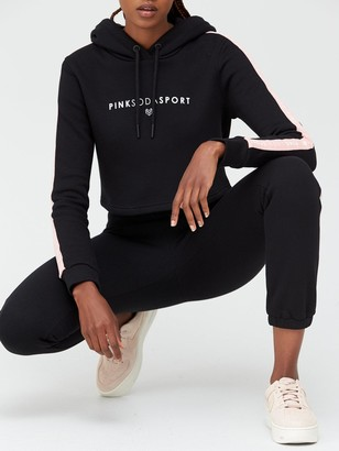 Pink Soda Ruwa Padded Jacket Black