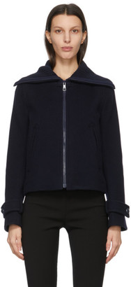 See by Chloe Navy Virgin Wool Zip-Up Jacket