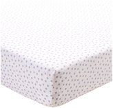 CoCalo Violet Collection Fitted Crib Sheet - Purple Dottie