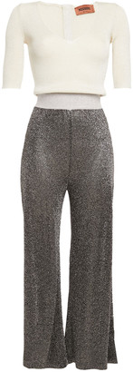 Missoni Metallic Ribbed-knit Jumpsuit