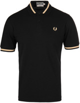 Fred Perry Reissues Single Tipped Black & Champagne Short Sleeve Polo Shirt