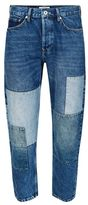 Topman Mid Blue Wash Patch Original Fit Jeans