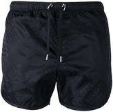 Neil Barrett tonal print swim shorts