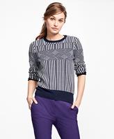 Brooks Brothers Merino Wool Graphic Jacquard Sweater