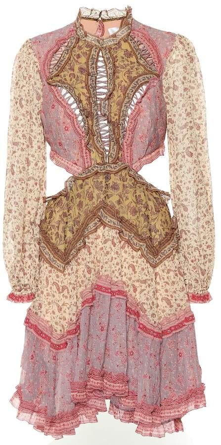 Zimmermann Juniper cotton and silk minidress