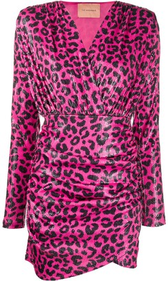Andamane Leopard Print Mini Dress