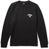 Stussy Hippie Crawl Printed Fleece-Back Cotton-Blend Jersey Sweatshirt